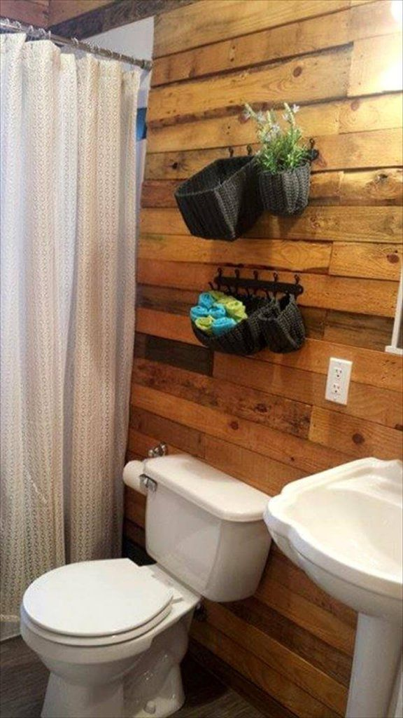 diy pallet bathroom wall paneling pallet wall bathroom on wall pictures id=62463