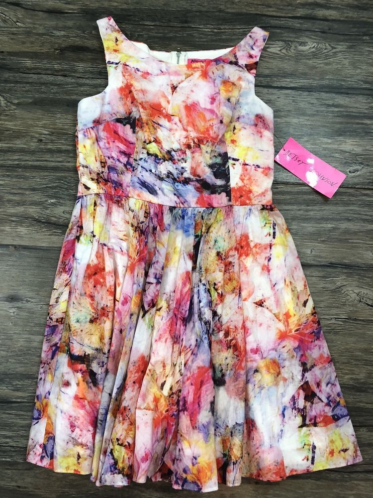 05a9e6ce05 Betsey Johnson Dress Fit And Flare Floral New With Tags Size 8 Womens 31U   BetseyJohnson  FitFlareDress