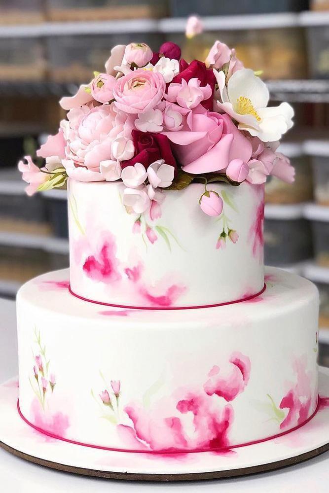 Fantastic 42 Eye Catching Unique Wedding Cakes Bruidstaart Simpel Funny Birthday Cards Online Alyptdamsfinfo