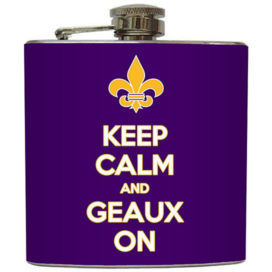 Keep Calm and Geaux On Flask from Liquid Courage Flasks on OpenSky
