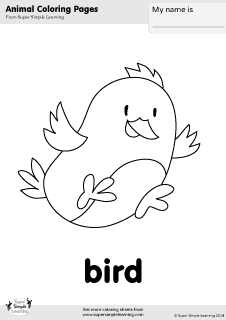 Free bird coloring page from Super Simple Learning. Tons