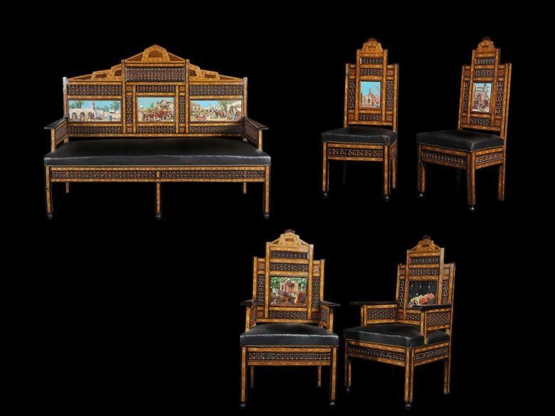 Sitzgarnitur Sitzgarnitur, Sitzen und Sitzbank