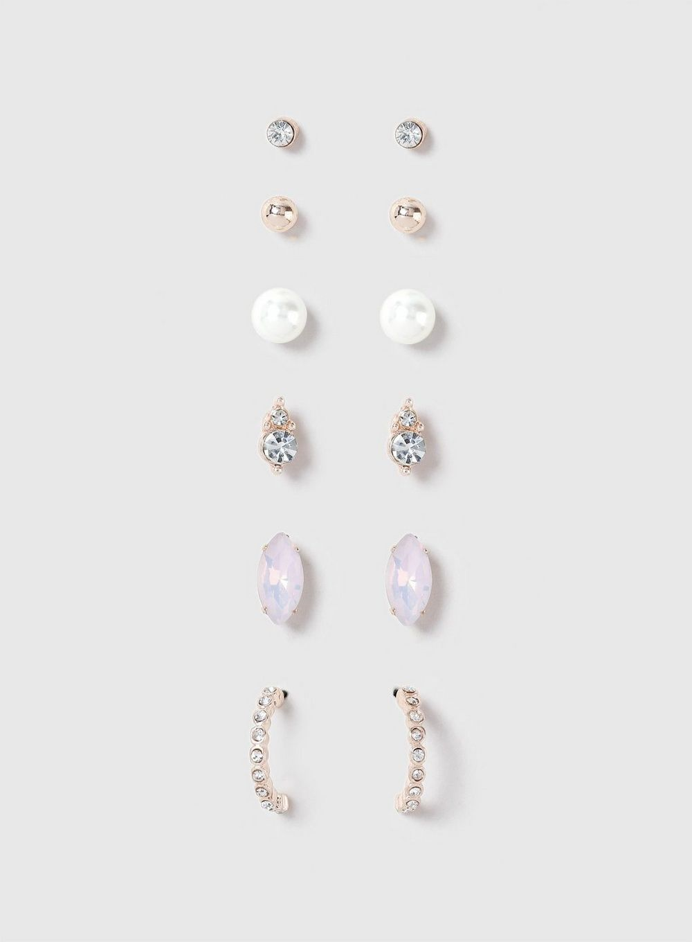 c66fb72e1 Rose Gold Look Pack Of 6 Earring Studs - View All New In - New In - Dorothy  Perkins United States