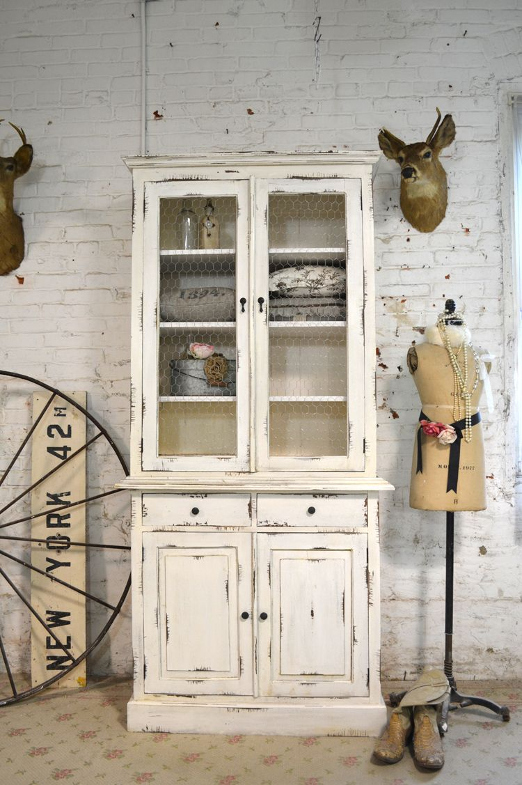 Painted Cottage Chic Shabby Farmhouse Cabinet [IB-CH] - $745.00 ...