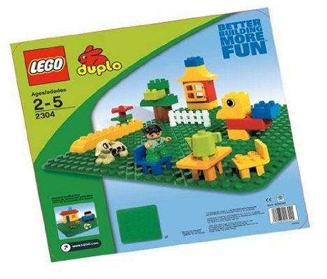 """LEGO Duplo Green Building Plate (15"""" X 15""""):Amazon:Toys & Games ..."""