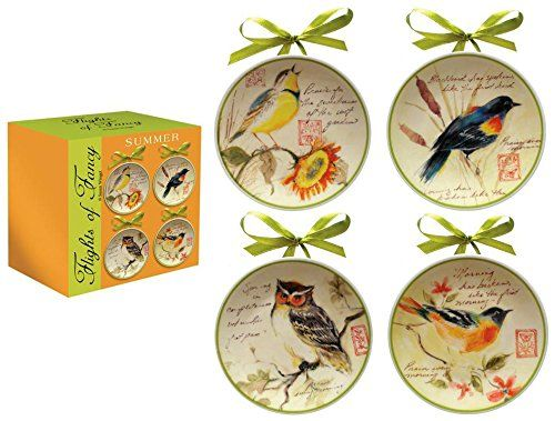 Manual Decorative Plates Mini Flights of Fancy Summer b.  sc 1 st  Pinterest & These cheerful songbird mini plates will brighten up your home ...