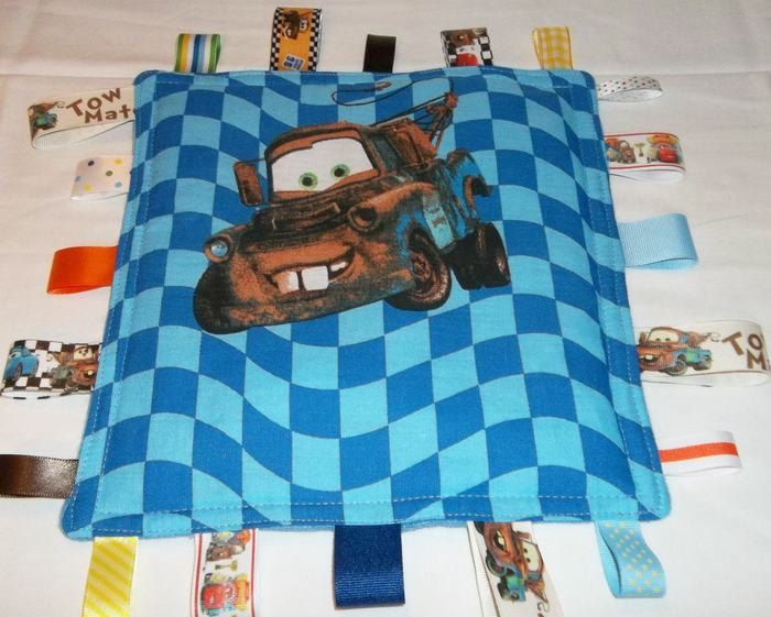 cars on blue ribbon blanket