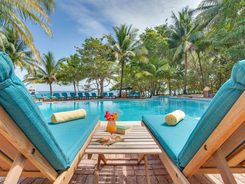 Hamanasi Adventure And Dive Resort Hopkins Belize Tree Outdoor Chair Swimming Pool Property Leisure