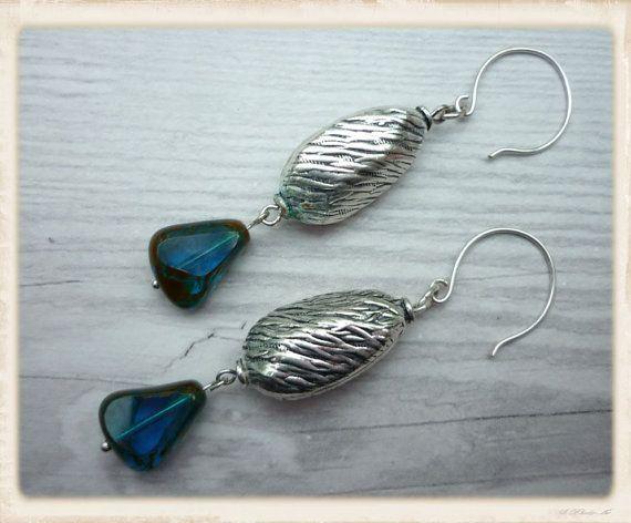 Handmade boho drop earrings with handcrafted by catchmearainbow
