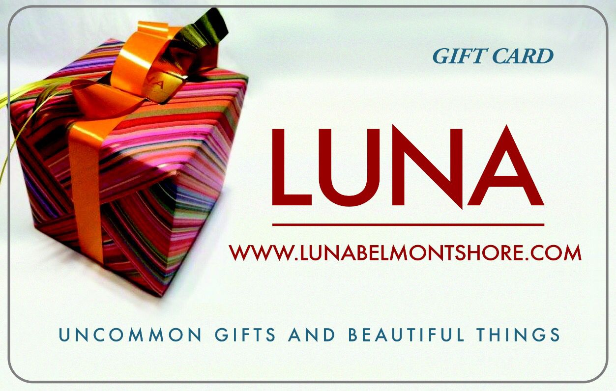 Our Luna Gift Cards Are The Perfect Gift Solution For The Person Who Has Everything Stocked With Unique I Gift Solutions Uncommon Gifts Unique Items Products