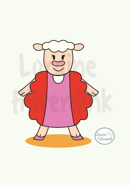 Sheep - schaap - Oveja  Illustration - Illustratie - Ilustración