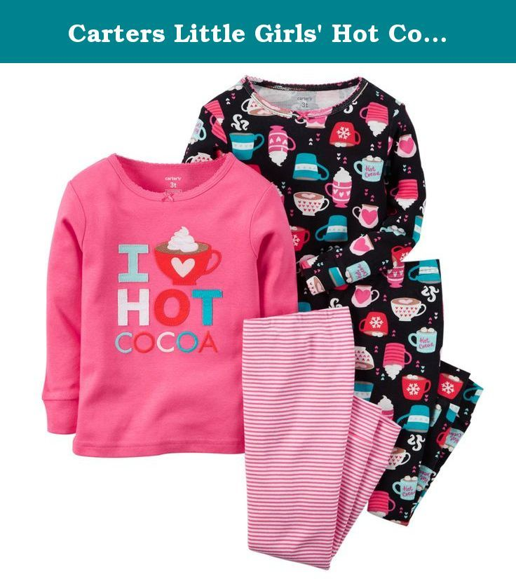 ce44daae29 Carters Little Girls  Hot Cocoa Pajama Set Perfect for a bedtime story by  the fireplace