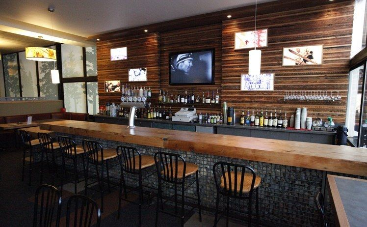 Contemporary Wood Ski Bar