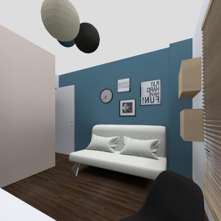 emejing chambre bleu canard et beige pictures design | Minouette ...