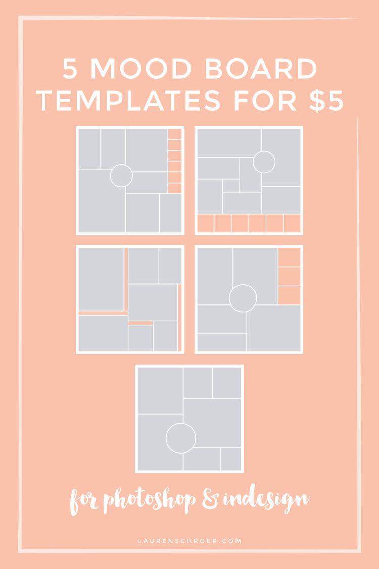 Free Mood Board Template | Photoshop, Portafolio y Laminas