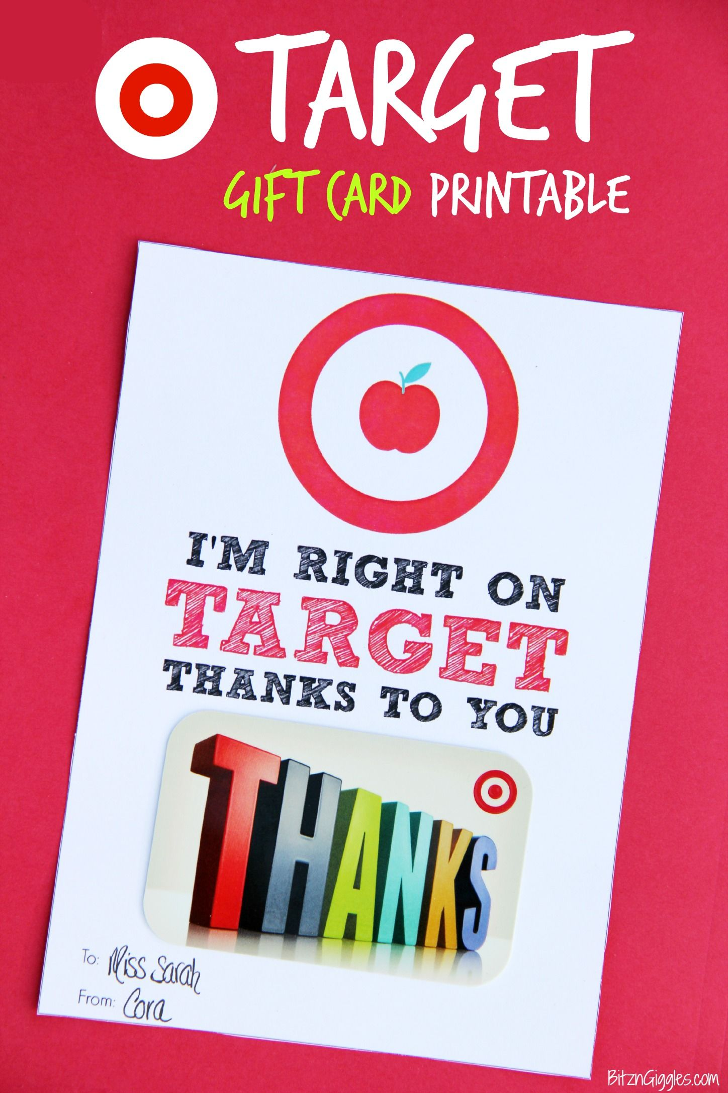 Target Gift Card Printable Teacher Appreciation Bitz Giggles - Target employee name tag template