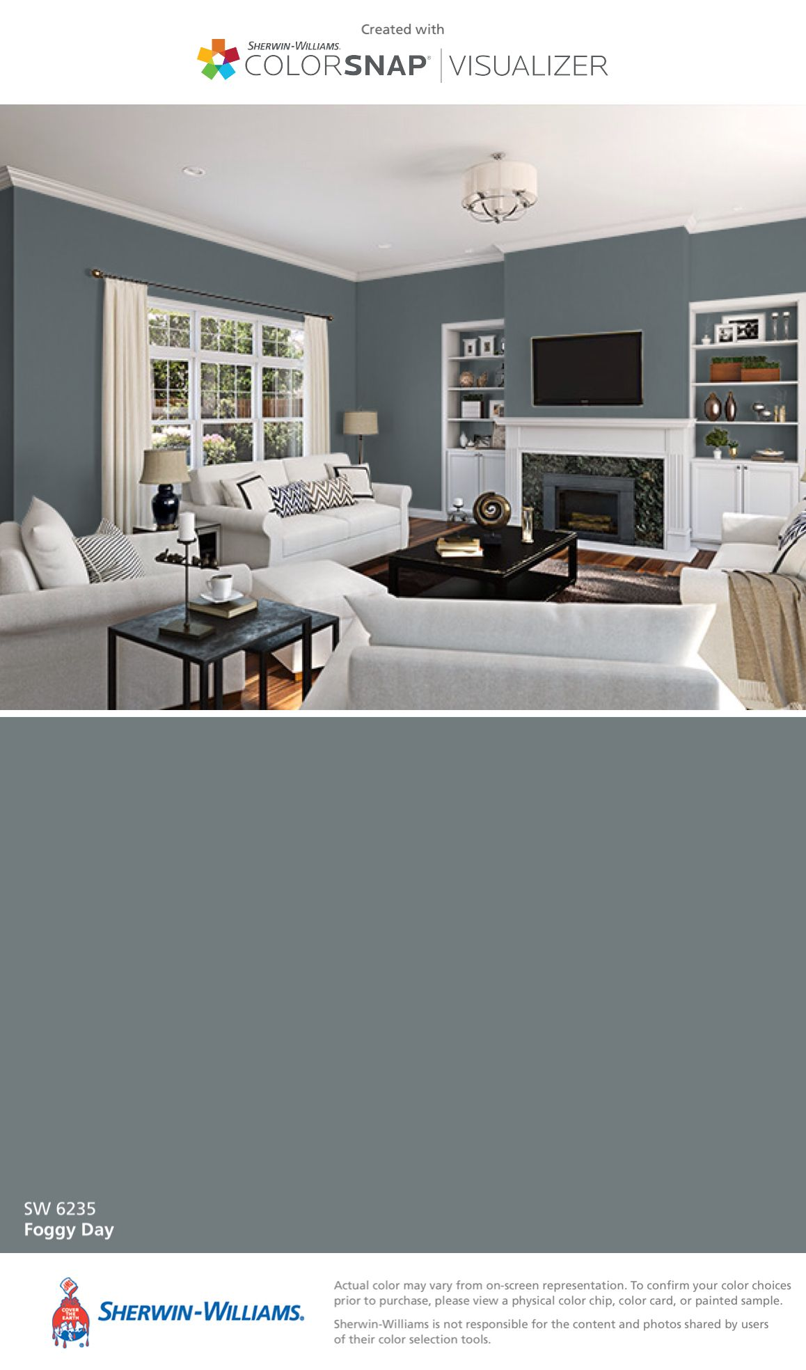 I Found This Color With Colorsnap Visualizer For Iphone By Sherwin Williams Foggy Day Sw 6235