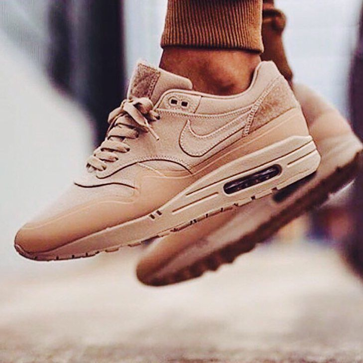 dec0fe3a5f1a5 Nike Air Max 1 V SP Patch (Sand) Nude color for the girls ...