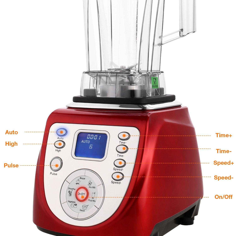 2l professional blender 2000w 68oz smoothie juice ice