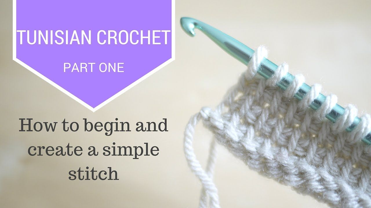 CROCHET: Tunisian Crochet Part One | Bella Coco | Crochet tunisien ...