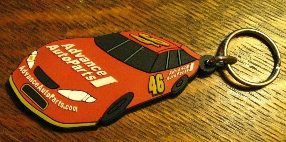 Advance Auto Parts Keychain Automobile Red Race Car 46