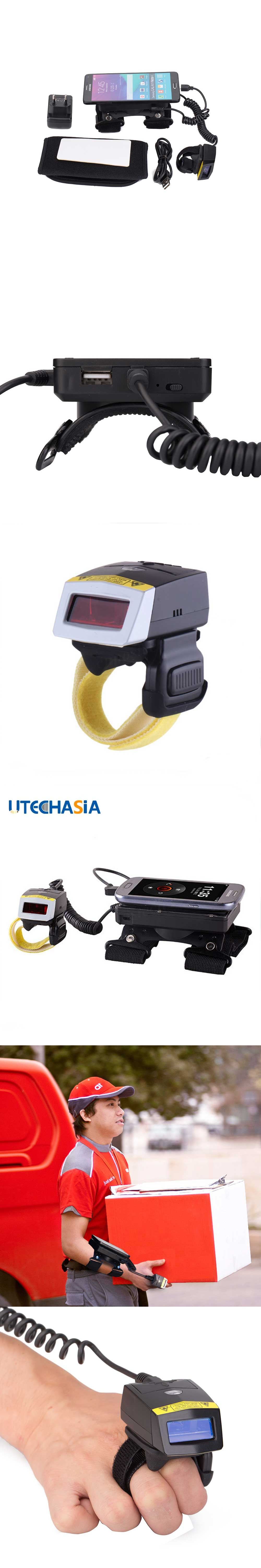 Newest Finger Wired Barcode Scanner Laser With Wearable Data ...