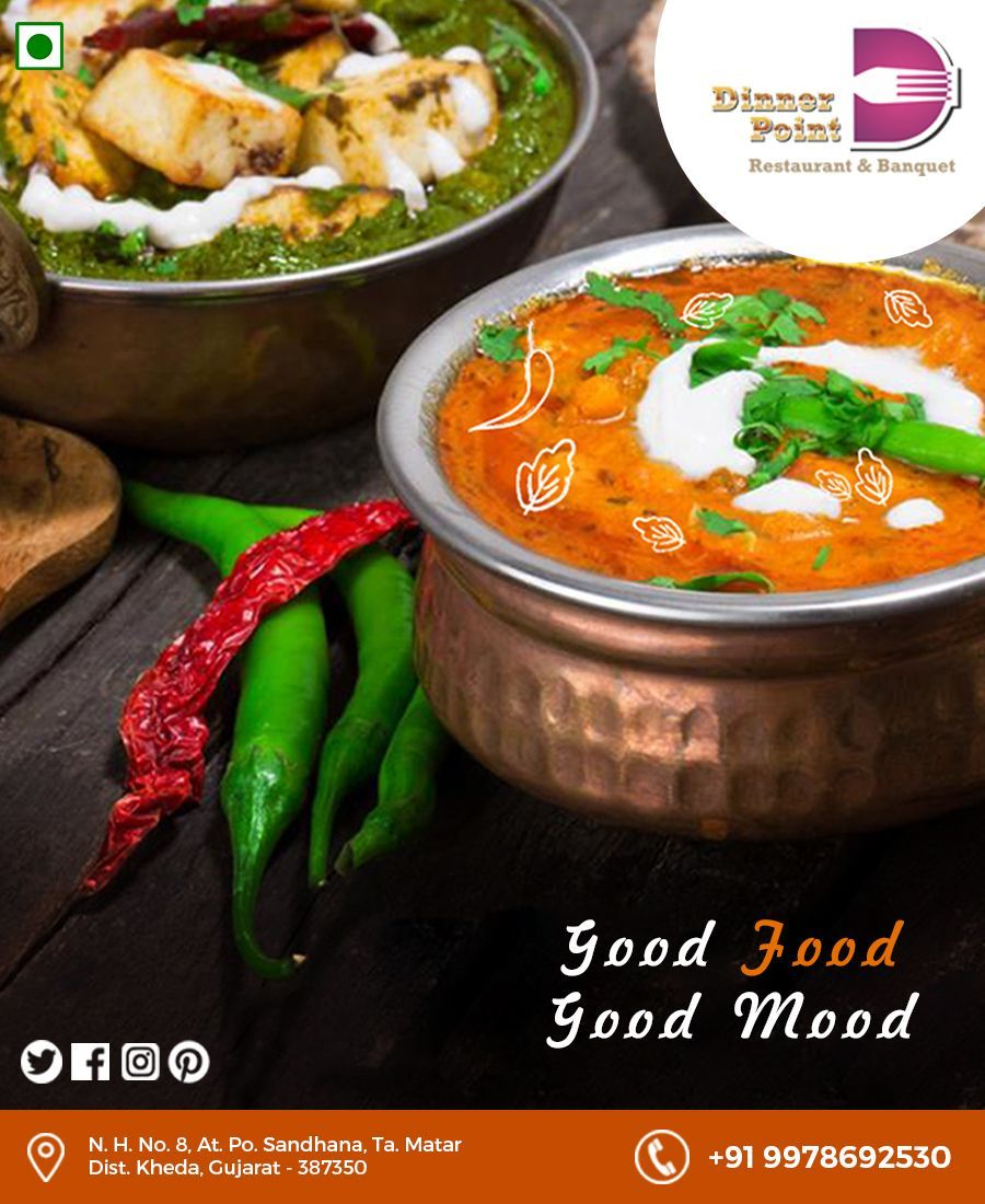 Good Food Good Mood Dinner Point Restaurant Banquet Ahmedabad