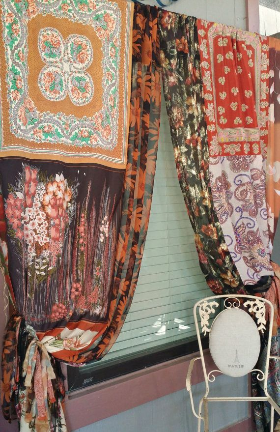 Patchwork Curtains Drapes Panels Gypsy Hippie Hippy Room Bohemian