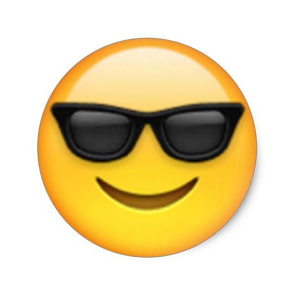 Sunglasses Emoji Sticker Meme Black Yellow Too Cool Sunglass Emojis Party Birthday Celebration Kids Childrens