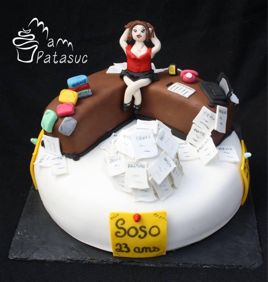 Secretary and baby cakes