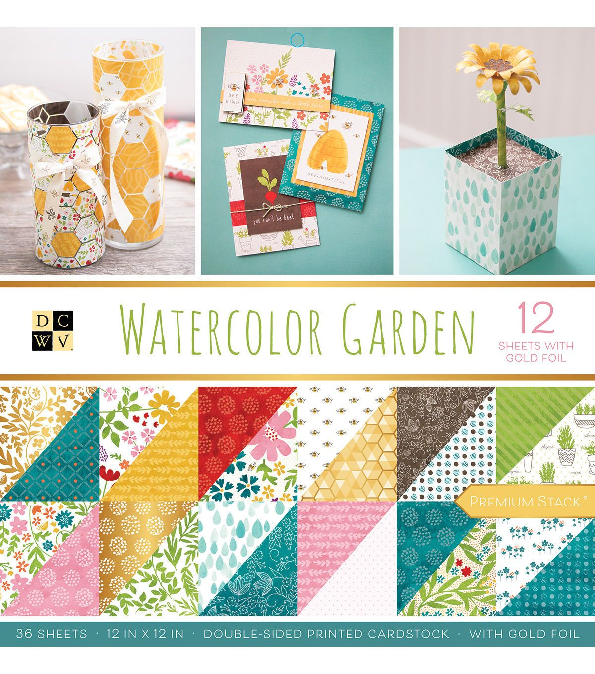 Dcwv 36 Pack 12 X12 Premium Stack Printed Cardstock Watercolor