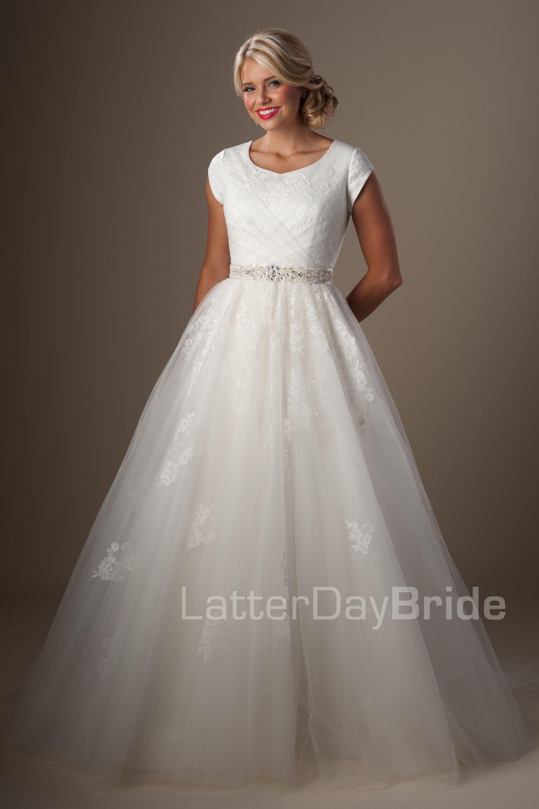 c9fbd4b2046 Modest Wedding Dresses : Tomasina. Latter Day Bride, Gateway Bridal & Prom