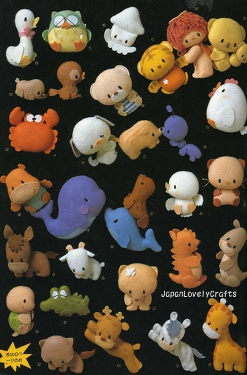 felt animal doll patterns - Bing Images | Stuffies | Pinterest ...