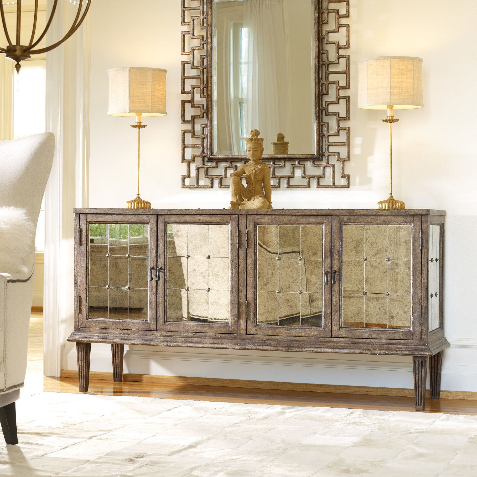Shop For Hooker Furniture DeVera Mirrored Console And Other Living Room Cabinets The Delivers It
