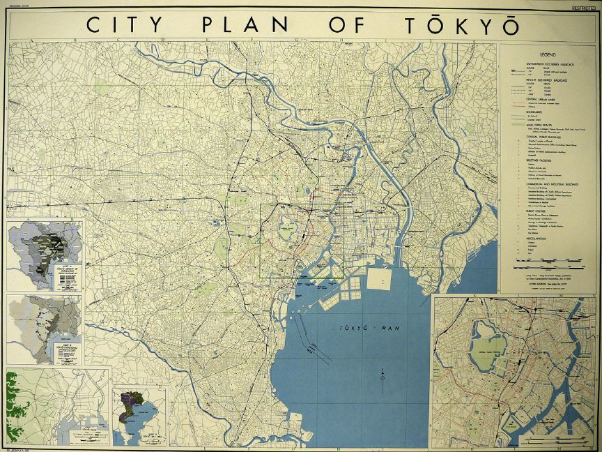 Mapping u0027Urbicideu0027 in World War II Tokyo, City and Cartography - new world map showing tokyo japan