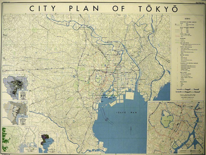 Map Japan World War 2. Mapping  Urbicide in World War II Tokyo City and Cartography