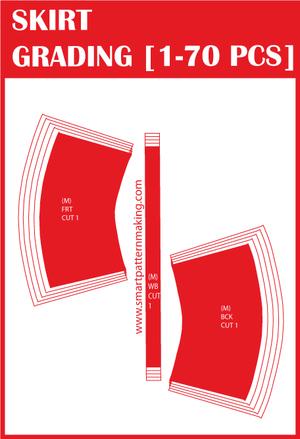 Pattern Grading Skirts Maxi Mini Total Pieces To Grade 1 70 Pcs Smart Pattern Making Pattern Grading Pattern Skirts