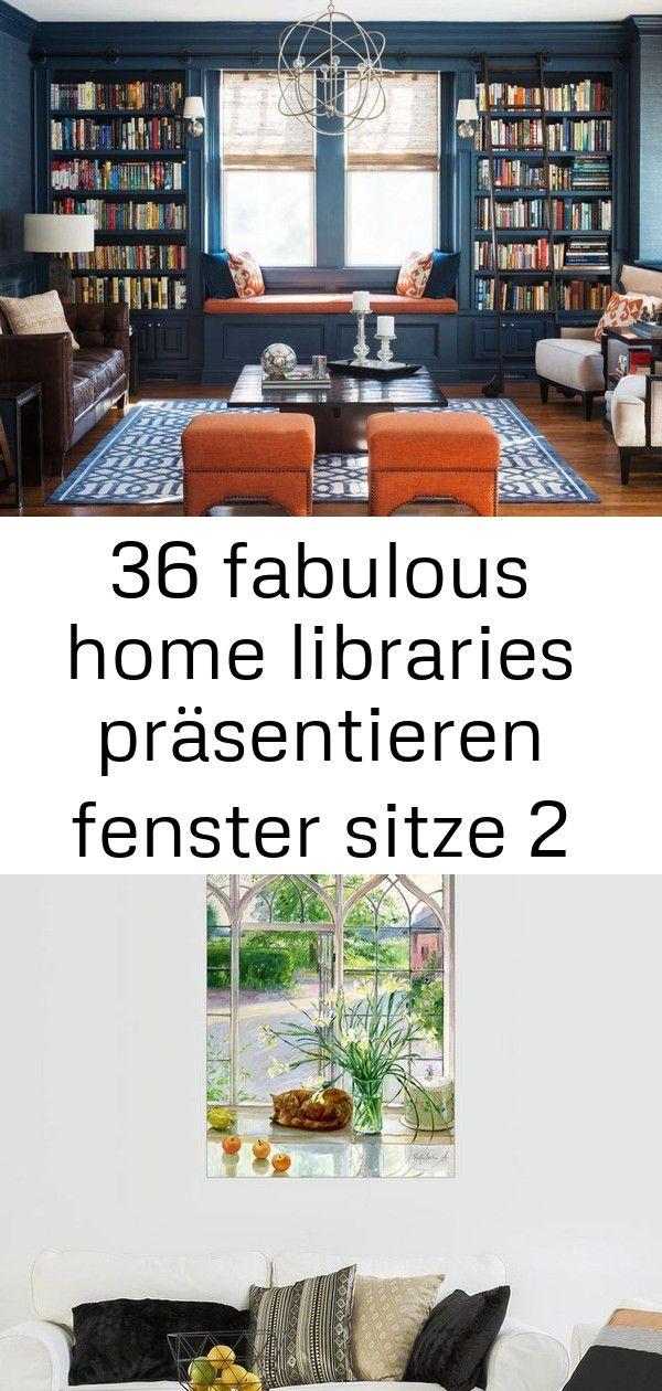 36 fabulous home libraries präsentieren fenster sitze 2 #fensterdekoherbst