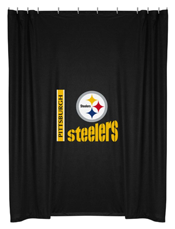 Nfl Pittsburgh Steelers Licensed Shower Curtain Steelers Pittsburgh Steelers Pittsburgh