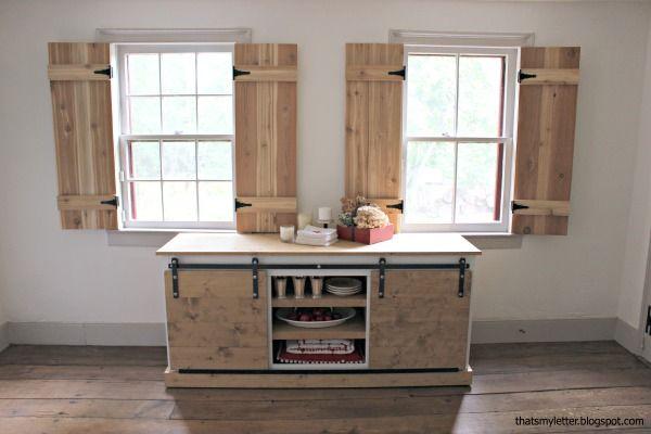 Interior Cedar Shutters Feature By Pretty Handy Girl   DIY Projects