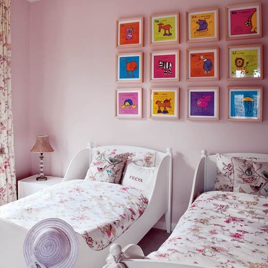 Kinderzimmer wohnideen m bel dekoration decoration living idea interiors home nursery floral - Kinderzimmer dekoration ...