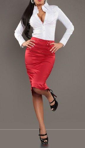 c28e94ed6 Falda de tubo roja
