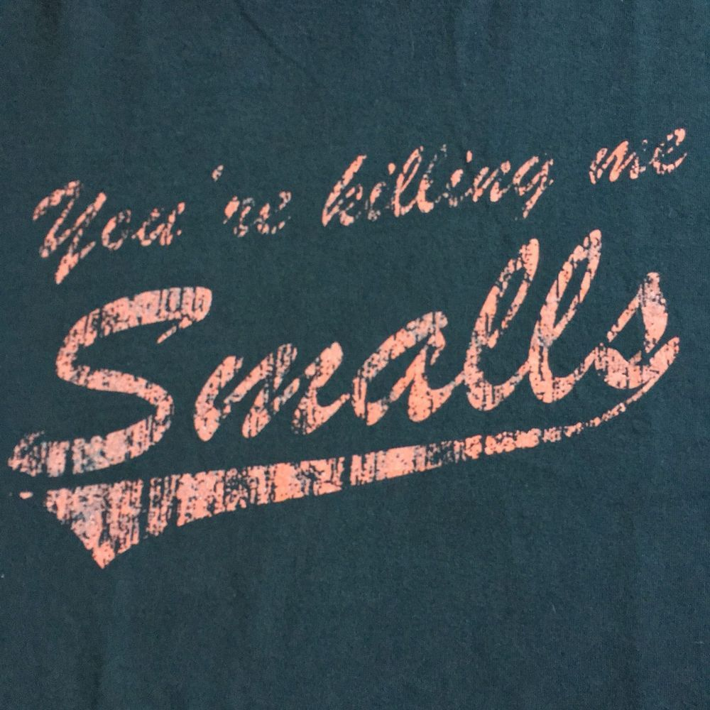 ce7dd521e YOU'RE KILLING ME SMALLS Fun Retro T-Shirt Navy Blue Men's XL Sandlot Quote  | eBay