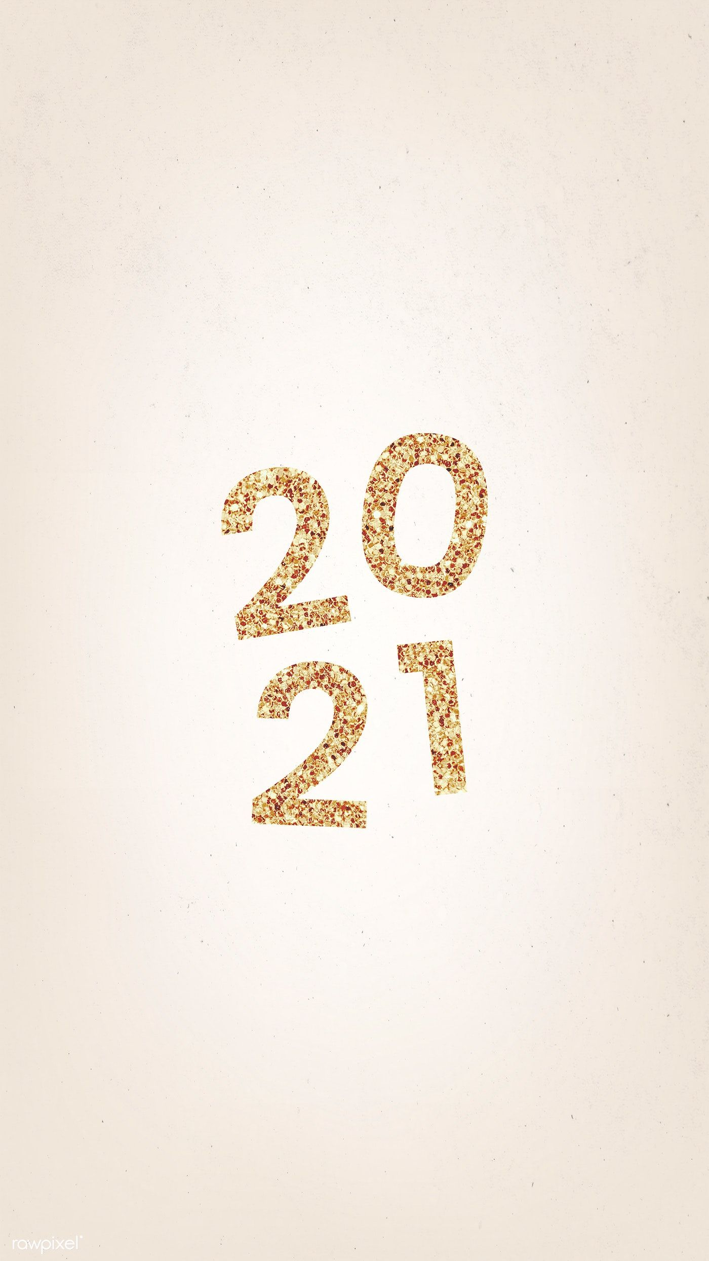 Festive shimmering golden 2021 illustration free image
