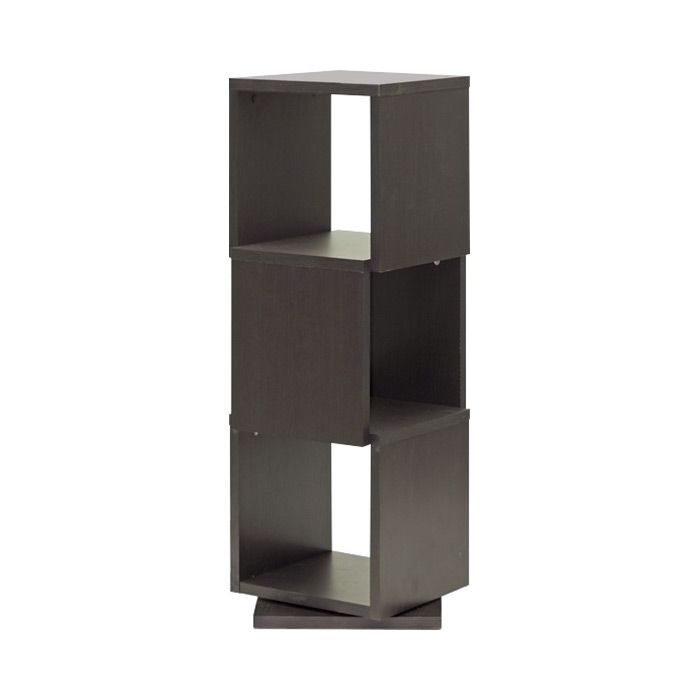The Lassiter 3 Level Swivel Bookshelf Offers A Fun Twist On Contemporary Cubed Furnishings Trend This Towering Cluster Of Three Square Units