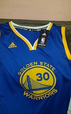 Adidas golden state warriors Stephen curry  30 basketball jersey NWT size XL  men 984222cef