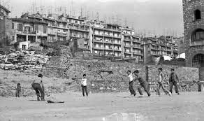 Playing in ruins of demolished properties with boys of the hood. There were injuries during playtime when some of the boys decided we split in two teams and have a rock-fight from a distance. I was also hit with a rock, on the side of my head and went to the neighborhood pharmacy to be treated. I felt tough at 6yo.