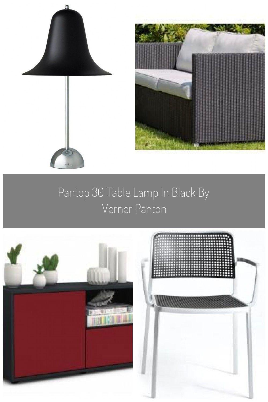 Pantop 30 Table Lamp In Black By Verner Panton in 2020 ...