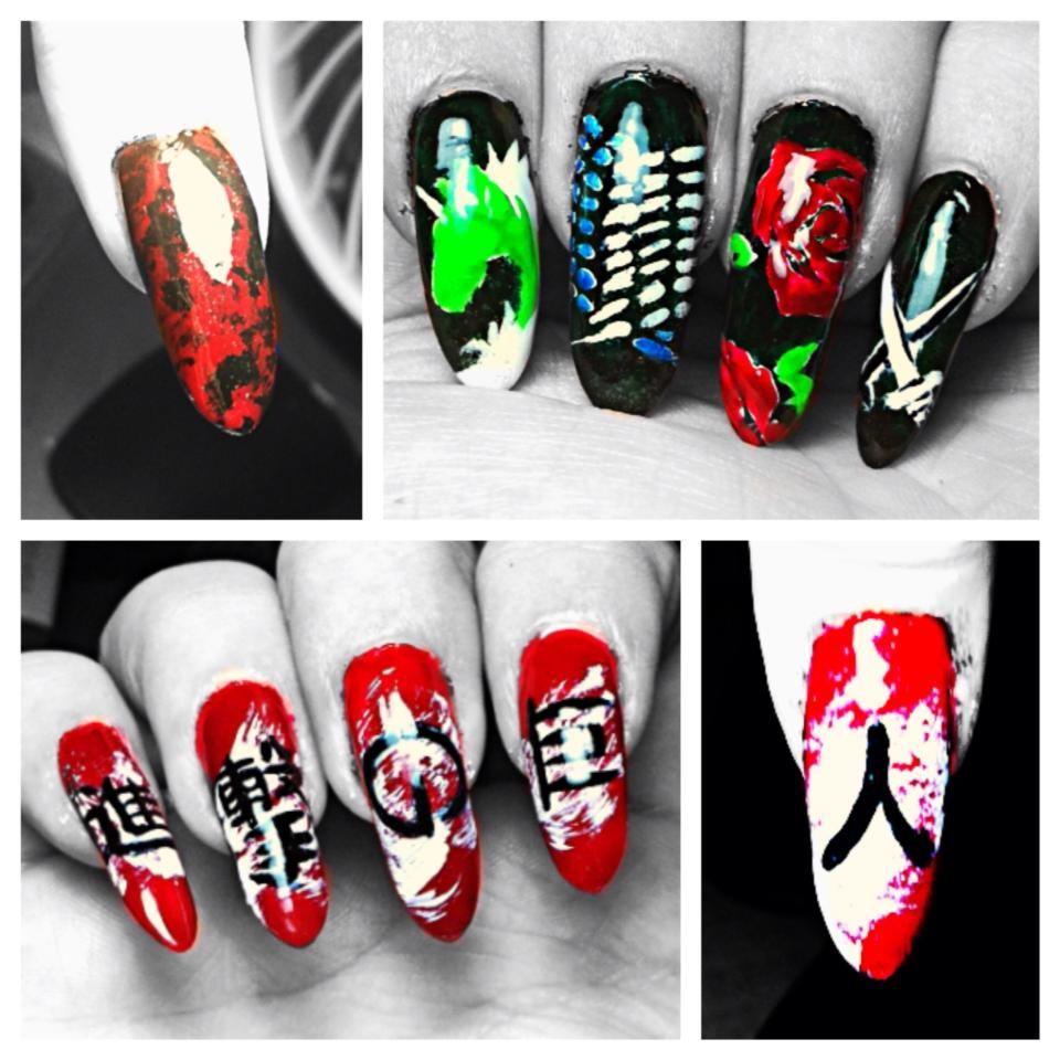 Shingeki no Kyojin - Themed Nails by NamidaTaki.deviantart.com on ...