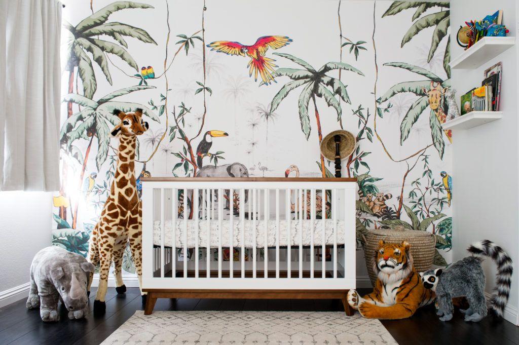 A Colorful Jungle Safari Nursery - Project Nursery | Jungle Nursery Boy, Jungle Safari Nursery, Baby Room Neutral